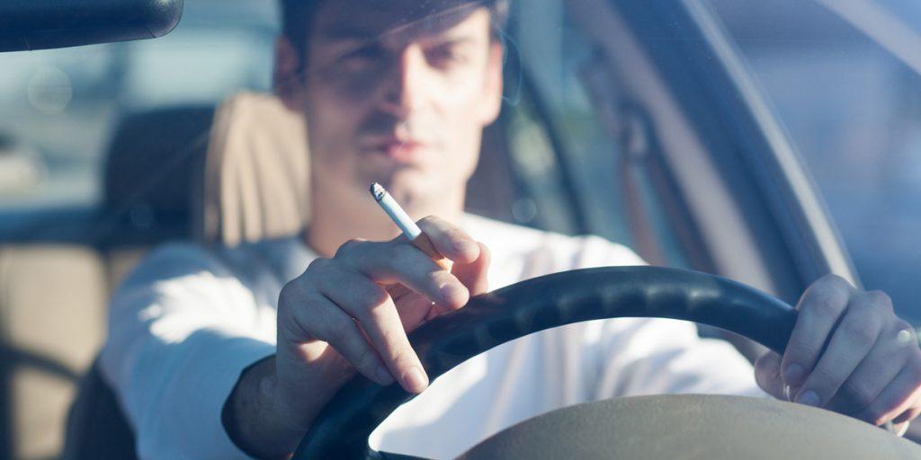 Kalter Rauch im Fahrzeug