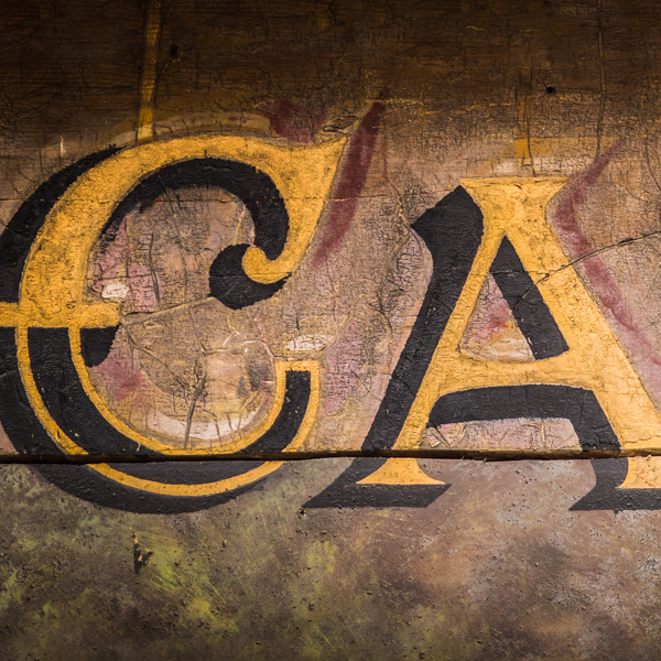 Retro Vintage Grungy Wooden Painted Cafe Sign