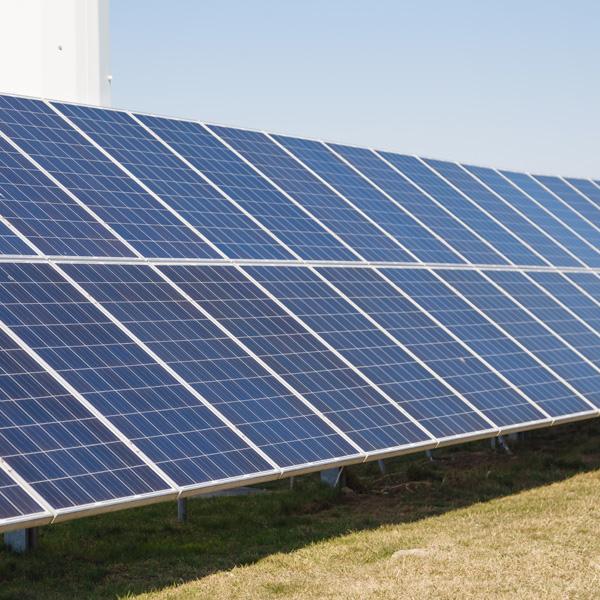 Photovoltaic solar panels.